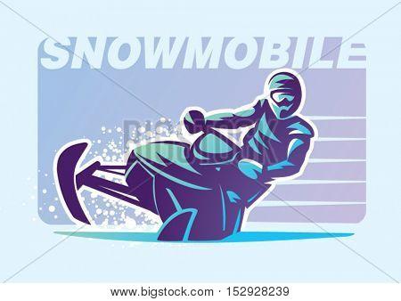 Snowmobile. Sport emblem