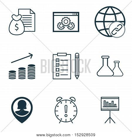 Set Of 9 Universal Editable Icons For Project Management, Hr And Management Topics. Includes Icons S