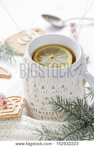 Christmas Hot Tea With Cold Days
