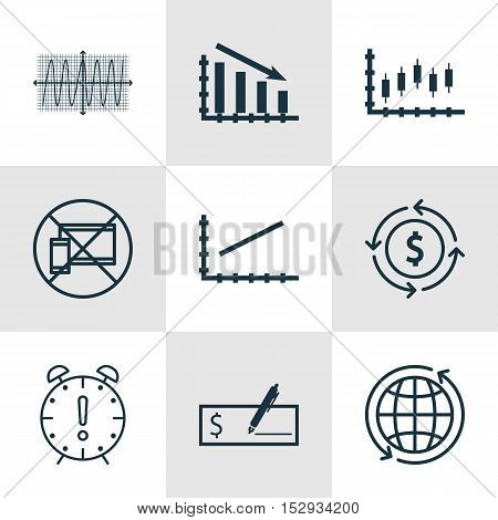Set Of 9 Universal Editable Icons For Project Management, Airport And Tourism Topics. Includes Icons