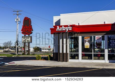 Indianapolis - Circa October 2016: Arby's Retail Fast Food Location. Arby's operates over 3300 restaurants I
