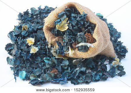 aromatherapy potpourri mix of dried aromatic flowers