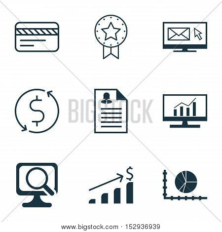 Set Of 9 Universal Editable Icons For Travel, Project Management And Statistics Topics. Includes Ico