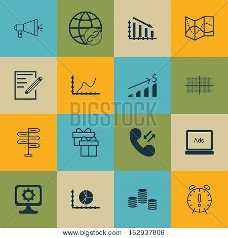 Set Of 16 Universal Editable Icons For Human Resources, Traveling And Management Topics. Includes Ic
