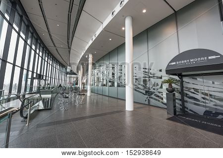 London, The Uk - May 2016: In The Corridors Of Wembley Arena - The Central City Stadium