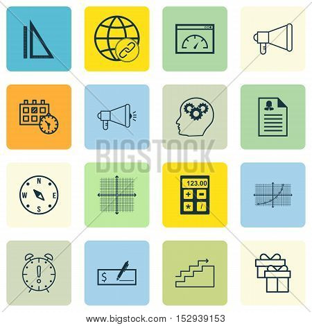 Set Of 16 Universal Editable Icons For Human Resources, Airport And Traveling Topics. Includes Icons