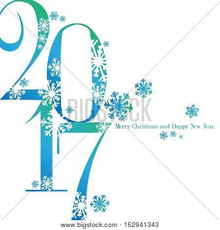Sfondo nuovo anno 2017 con augurio - colorato