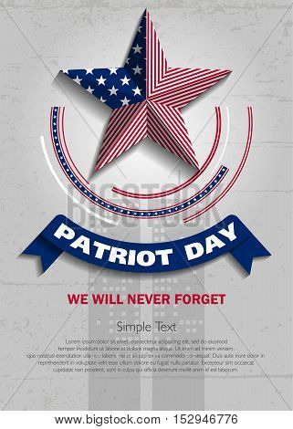 Patriot Day. Vector illustration. 11 th September