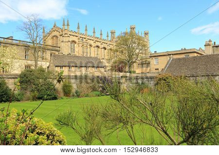 Christ Church College and garden, Oxford, United Kingdom