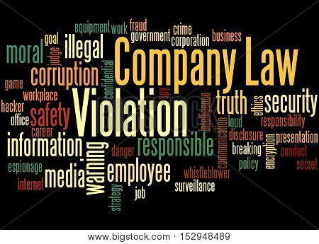 Company Law Violation, Word Cloud Concept 6