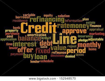 Credit Line, Word Cloud Concept 3