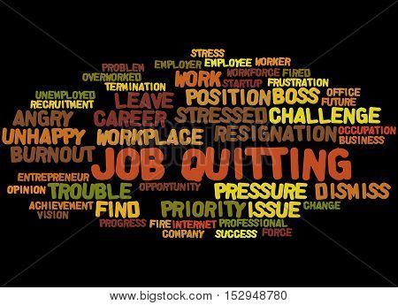 Job Quitting, Word Cloud Concept 2