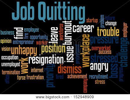 Job Quitting, Word Cloud Concept 5
