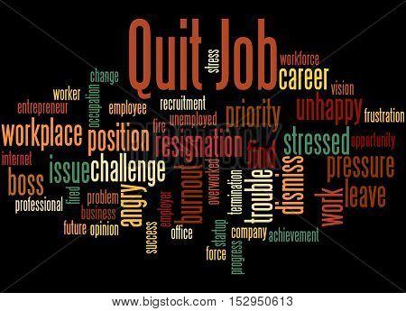 Quit Job, Word Cloud Concept 4