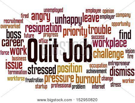 Quit Job, Word Cloud Concept 9