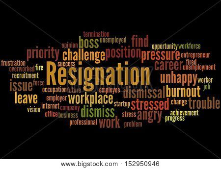 Resignation, Word Cloud Concept 5