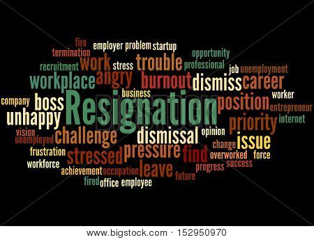 Resignation, Word Cloud Concept 6