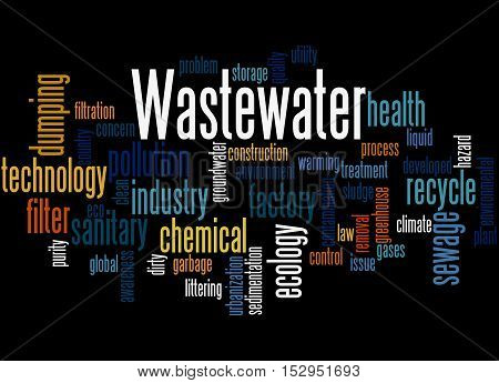 Wastewater, Word Cloud Concept 7