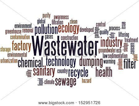 Wastewater, Word Cloud Concept 8