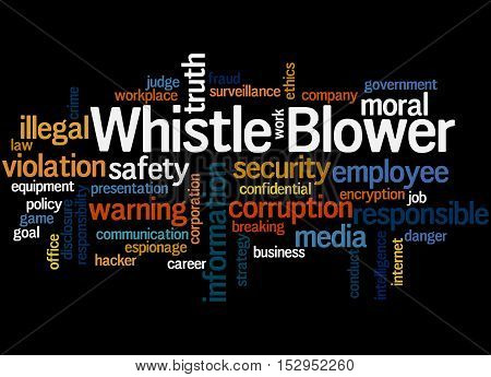 Whistle Blower, Word Cloud Concept 7