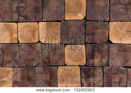 Stack of Wood blocks pattern background texture