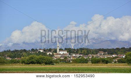 The village of Rive D'Arcano in the north east Italian region of Friuli Venezia Giulia