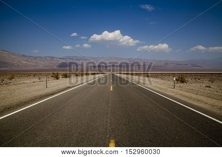 A road to nowhere in Death Valley