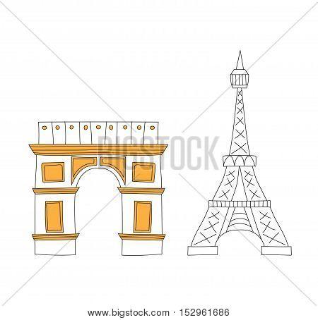 Eiffel Tower, Paris eiffel tower. France eiffel tower vector. Eiffel tower europe landmark architecture travel and tourism monument eiffel tower. Famous construction structure eiffel tower.