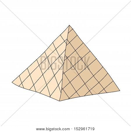 Louvre museum landmark building architecture and louvre museum france history famous pyramid. Louvre museum famous pyramid city art. Louvre world s largest museum and historic monument in Paris vector