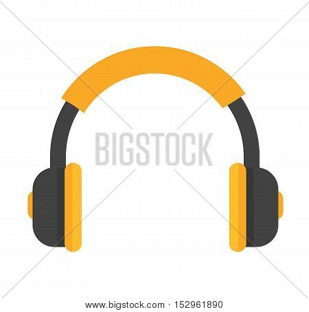 Headphones vector icon isolated on a white background. Computer headphones icon web. Technology headphones music equipmen