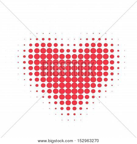 Simple red heart sharp vector icon. Color card beautiful celebrate bright emoticon red heart symbol. Red heart holiday abstract art icon decoration. Romance shape design. Love amour heart symbol.