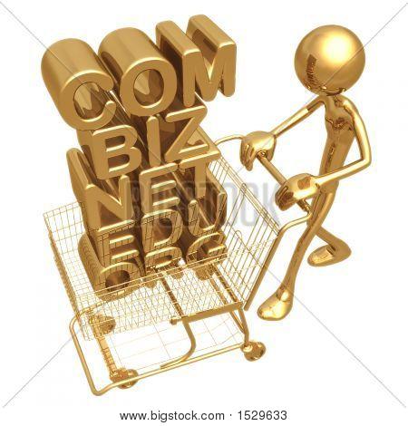 Domain Shopping E Commerce Concept
