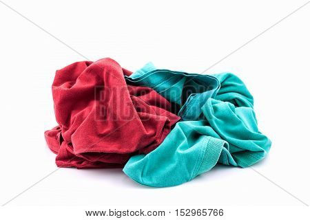pile of dirty laundry Isolated on white