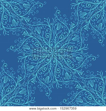 Vector illustration of calligraphy penmanship decorative seamless background