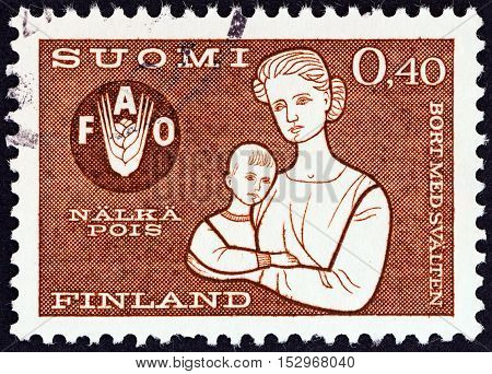 FINLAND - CIRCA 1963: A stamp printed in Finland from the