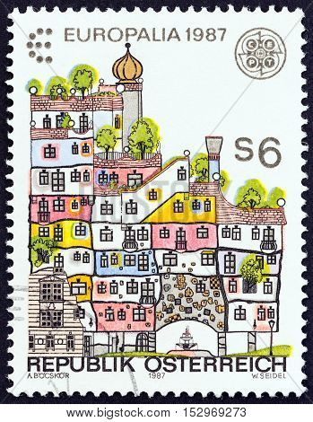 AUSTRIA - CIRCA 1987: A stamp printed in Austria from the