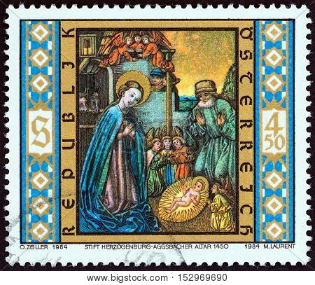 AUSTRIA - CIRCA 1984: A stamp printed in Austria from the
