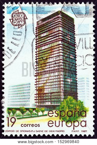 SPAIN - CIRCA 1987: A stamp printed in Spain from the