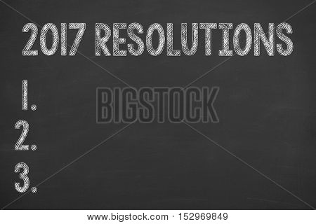 Human Hand Drawing New Year 2017 Resolutions Concepts