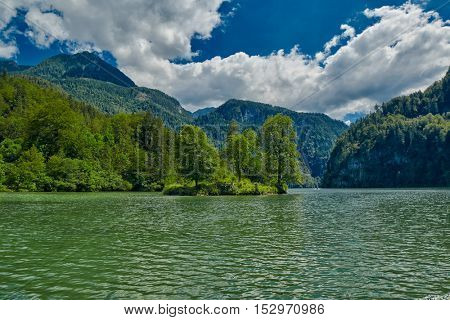 Konigsee Lake of Bavaria Germany Boat Tour Cruise