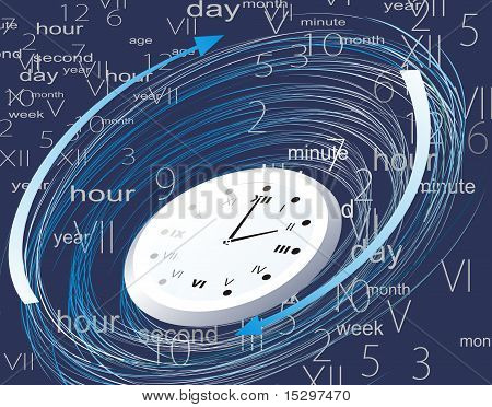 rasterized image of an illustration that symbolizes the cycles of time his career. poster
