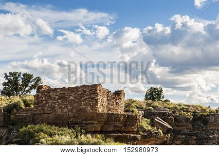 Box Canyon pueblo ruin in Wupatki National Monument near Flagstaff   Arizona.