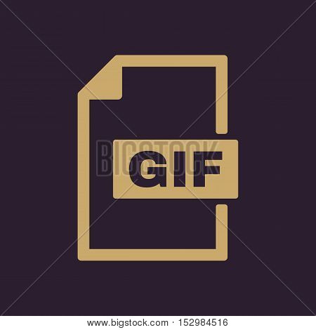 The GIF icon. File format symbol. Flat Vector illustration