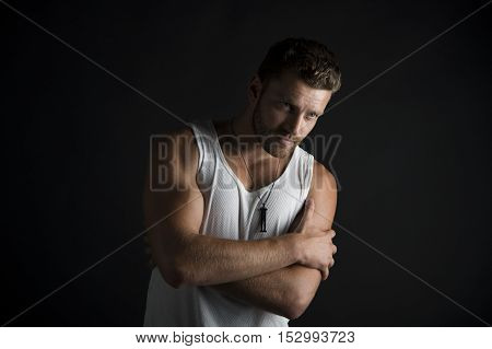 Sexy Muscular Young Man