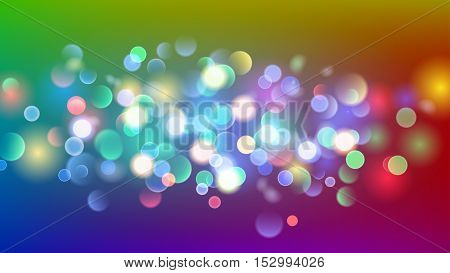Abstract Background With Multicolored Bokeh Effect
