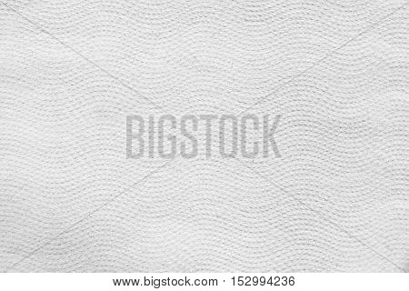 Texture of dotted wavy paper towel. White texture.