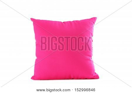 Pink pillow isolated on a white background