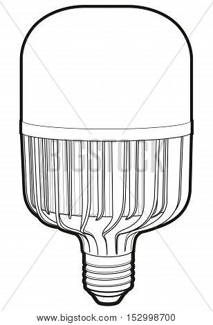 Big led lamp. Drawing modern LED lamp. LED lapm sign