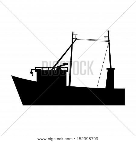 fishing boat icon. sea transportation nautical and marine theme. Isolated design. Vector illustration
