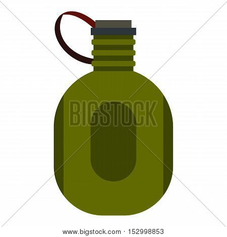 Water canteen icon. Flat illustration of water canteen vector icon for web design
